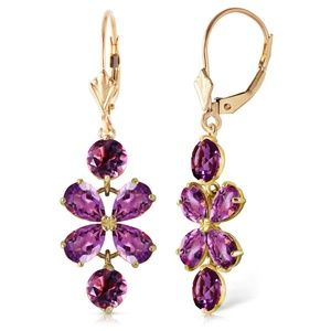 Galaxy Gold Products Jewelry - GOLD CHANDELIERS EARRING WITH AMETHYSTS